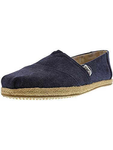 (TOMS Women's Seasonal Classics Navy Washed Canvas Rope Sole 9 B US)