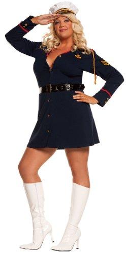 Plus Size Gentleman's Officer Sailor Costume - Womens 1X-2X -