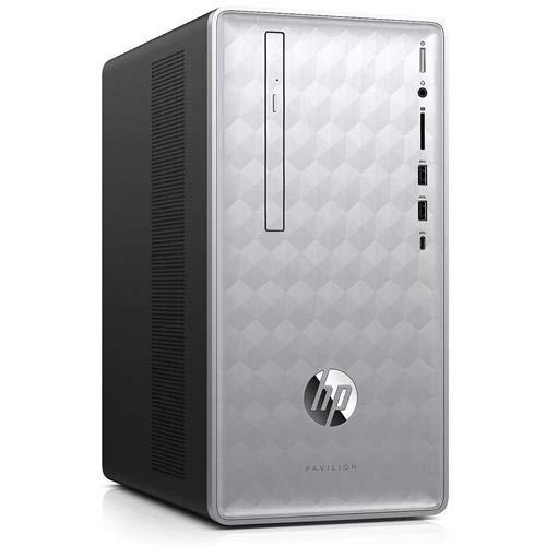 HP Pavilion 590-p0081c Desktop Computer Intel Core i5-8400 12GB DDR4 RAM 1TB HDD DVDRW AMD Radeon RX 550 Win10 (Renewed)