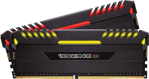 CORSAIR VENGEANCE RGB 16GB (2x8GB) DDR4 2666MHz C16 Desktop Memory – Black