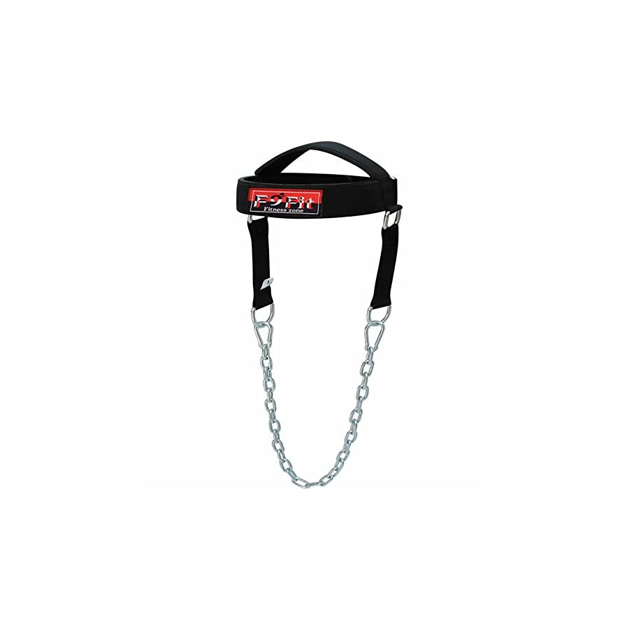 F9fit Pro Adjustable Head Harness Dipping Neck Builder Belt Weight Lifting Chain