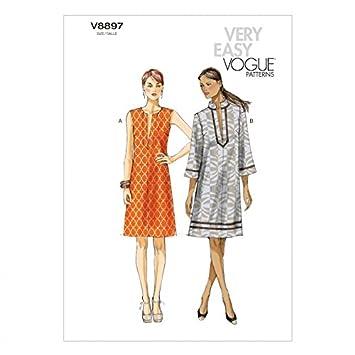 Vogue Schnittmuster 8897 Damen Sehr einfach Vogue Kleid Größen: L ...