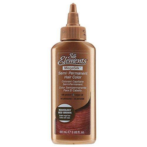 Silk Elements Red Brown Semi Permanent Hair Color Mahogany Red Brown - Mahogany Semi