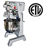 UniWorld 30 Quart Planetary Mixer With Timer 3 Speeds ETL Listed UPM-30ET