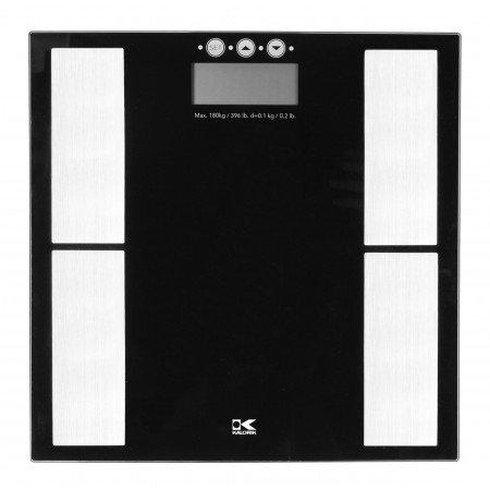 (Kalorik Black Electronic Scale w/Body Fat Analyzer)