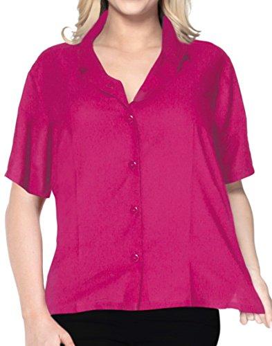 hawaiische Bademoden Hemdkleid mit kurzen �rmeln Bluse oberen Knopf nach unten l vertuschen