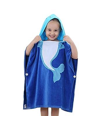 Janeyer Kids Baby Cute Print Hooded Bathrobe Soft Cotton Plus Size Bath Towel