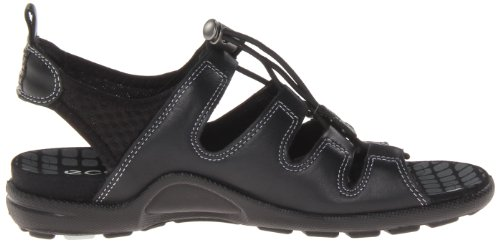 Ecco Jab Sandal Black/Black Feather/Tex/Sole 238013 Damen Slipper Schwarz (BLACK/BLACK 51707)