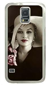 Marilyn Monroe-4 Samsung Galaxy S5 Transparent Sides Hard Shell Case by Sakuraelieechyan by runtopwell