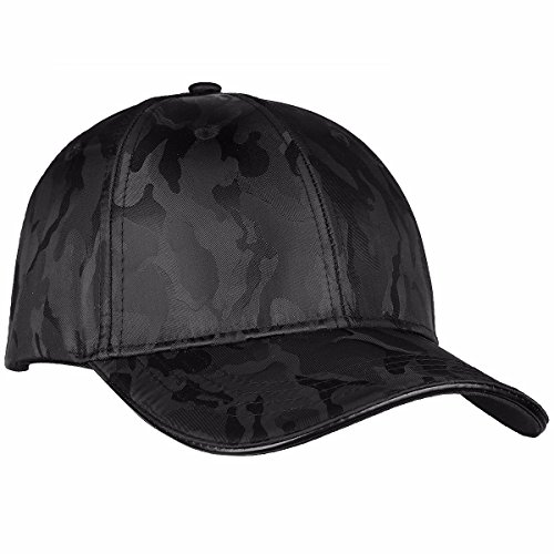 moonsix Baseball Cap,Unisex Camo Printed 6 Panel Polyester Satin Dance Summer Visor Sport Hat,Black