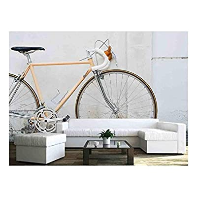 Vintage Road Bicycle Leaning on White Wall, Made to Last, Gorgeous Work of Art