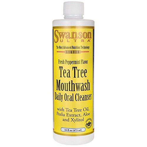 (Swanson Tea Tree Mouthwash Peppermint 16 fl Ounce (473 ml) Liquid)
