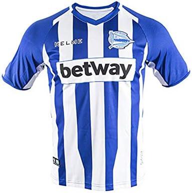 KELME Camiseta ALAVES 1ª EQUIPACION 18/19 fútbol, Unisex niños, Blanco/Azul, 6: Amazon.es: Deportes y aire libre
