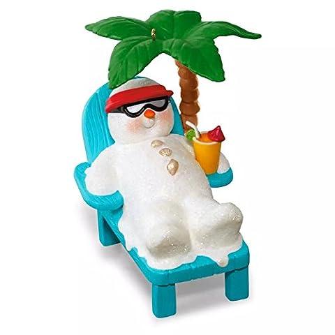 Hallmark 2016 Christmas Ornaments Kokomo Snowman Relaxing Under Palm Tree Musical Ornament (Hallmark Musical Snowman)