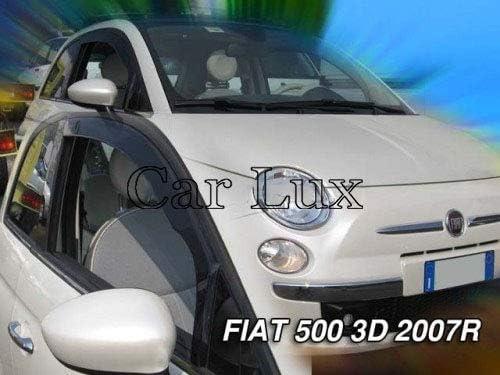 Derivabrisas Deflectores de Aire Cortavientos de Viento Delanteros para el 500 de 3 Puertas Desde 2007 Car Lux AR05220
