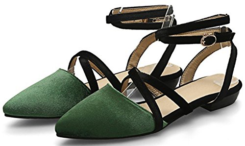 Geschlossen Aisun Fashionable Grün Mit Damen Zehe Schnalle Spitz Gekreuzt Sandalen rtr5aqxwB