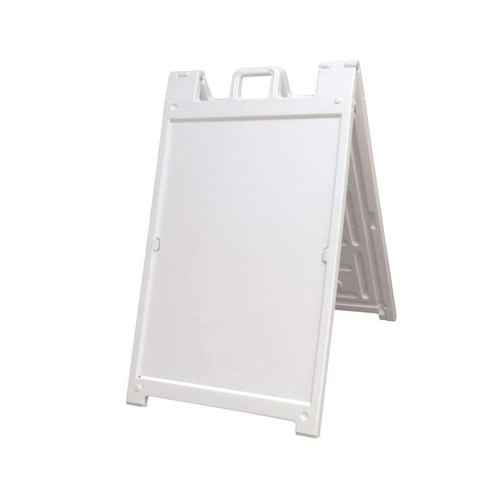 Deluxe Signicade A-Frame Sidewalk Curb Sign with Quick-Change System, White by Plasticade