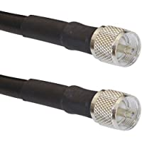 MPD Digital LMR-400 Coax US Made Ham or CB Radio Jumper PL-259 Connectors Ultra Low Loss Antenna Cable (100feet)