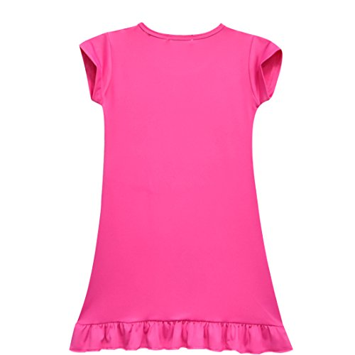 ZHBNN Moana Girls Nightgown Cartoon Pajamas Princess Dress(Rose,100/2-3Y) by ZHBNN (Image #1)