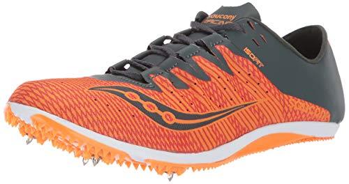 Mens Field Spikes - Saucony Men's Endorphin 2 Track and Field Shoe, Orange/Grey, 11 Medium US