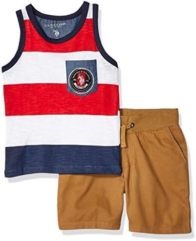 Polo Assn U.S Boys 2 Piece Tank Top and Short Set