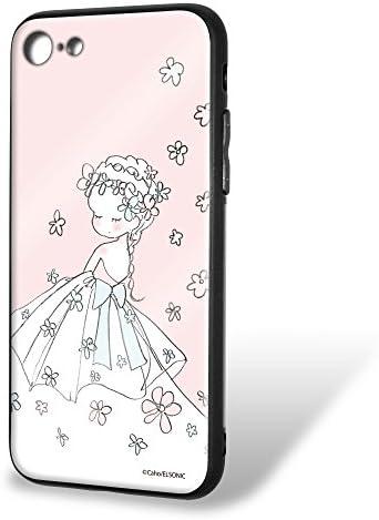 Caho iPhone7 ケース ガラス プリント TPU ウェディングB (ch-012) スマホケース アイフォンセブン 硝子 輝き 光沢 ツヤ スリム 薄型 カバー WN-LC535574