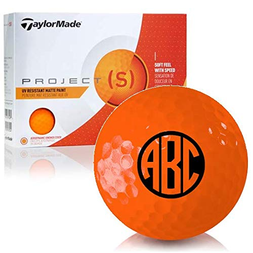 - Taylor Made Project (s) Matte Orange Monogram Personalized Golf Balls
