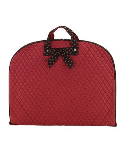 belvah quilted solid garment bag - 1