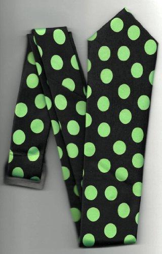 HEALTHMOBIUS New Retro Gorgeous Black and Lime Green Polk...