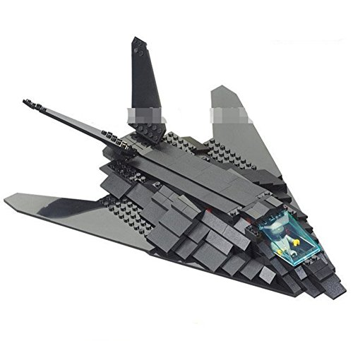 Military F117 Bomber Plane Bricks War Education Bombardment Aircraft 209pcs.