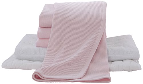 American Baby Company Portable/Mini-Crib Starter Set, Pink