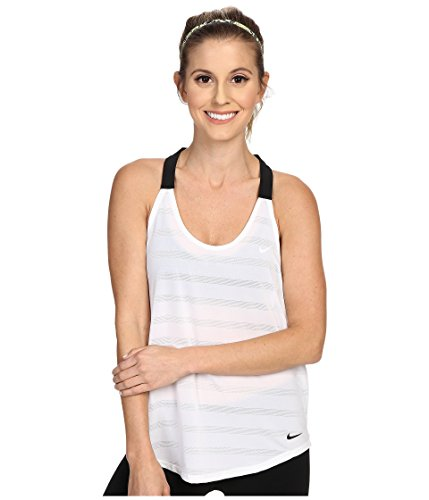 Nike Elastika Elevate Tank Top White/Heather/Black/Black Women's Sleeveless ()