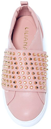Fashion Liliana Creepers Sneakers 12 Top Chic High Dusty Pink Studded wTRx1C4Rfq