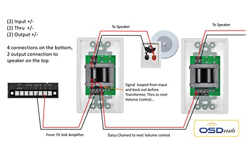 shavano music online speaker wiring 70 volt transformer systems Ceiling Speakers with Volume Control Wiring