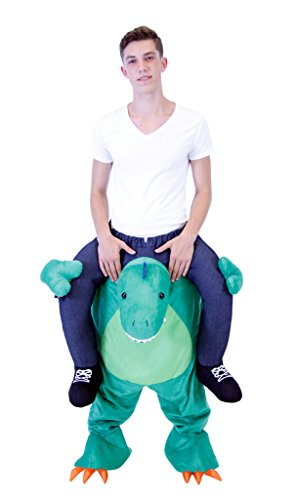 [Costume Agent Men's Piggyback T-REX Ride-On Costume, T-Rex, Adult Standard] (Animal Halloween Costumes Men)