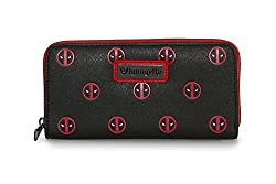 Deadpool Minimal Eyes Zip Wallet