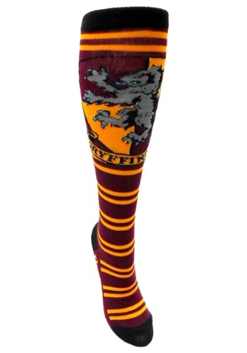 Harry Potter Juniors Knee High Socks (Gryffindor Maroon/Gold) (Harry Potter School Girl Costume)