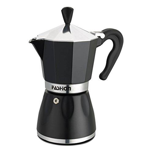 GAT Café Caffe Black Star - Stove Top Espresso Coffee Maker - Aluminium with Matt Black Finish - 1 Cup