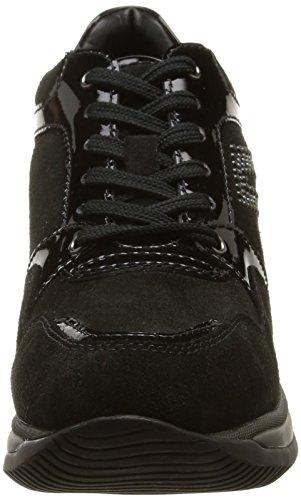Geox Donna Regina A - Zapatillas de Piel para mujer negro