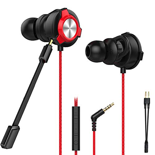 CLAW G9X Single Driver Gaming Earphones with Adjustable Boom & in-line Mic, Volume Control, Mute Switch & 3D Stereo Sound for iPhone & Android Phones, Tablets, PC, Laptop, PS4, PS5, Xbox (Red)