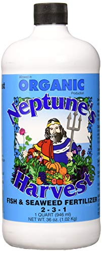 Neptune's Harvest Organic Hydrolized Fish & Seaweed Fertilizer 36 0z - Liquid Fish Fertilizer