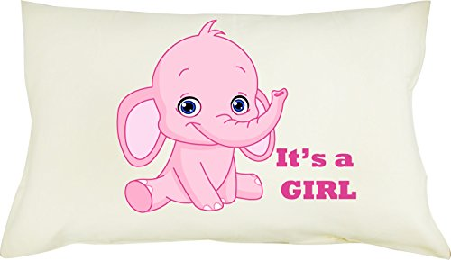 Totmart 100% Cotton Boys, Girls, Pillowcase with Hypoallergenic Pillow for Toddler 19 X 12.5 Monkey , Elephant pictures (Pink (Cluster Gear Image)