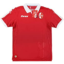 Zeus Maillot de Football Bari Gara Away Rouge Blanc Original Neutre sans Sponsor 2017-18