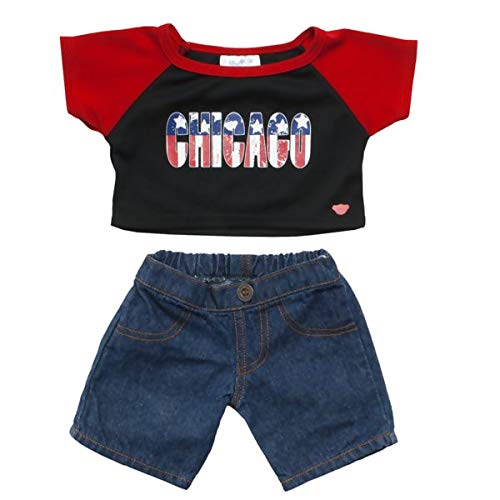 Build A Bear Workshop Chicago Stars /& Stripes Outfit 2 pc.