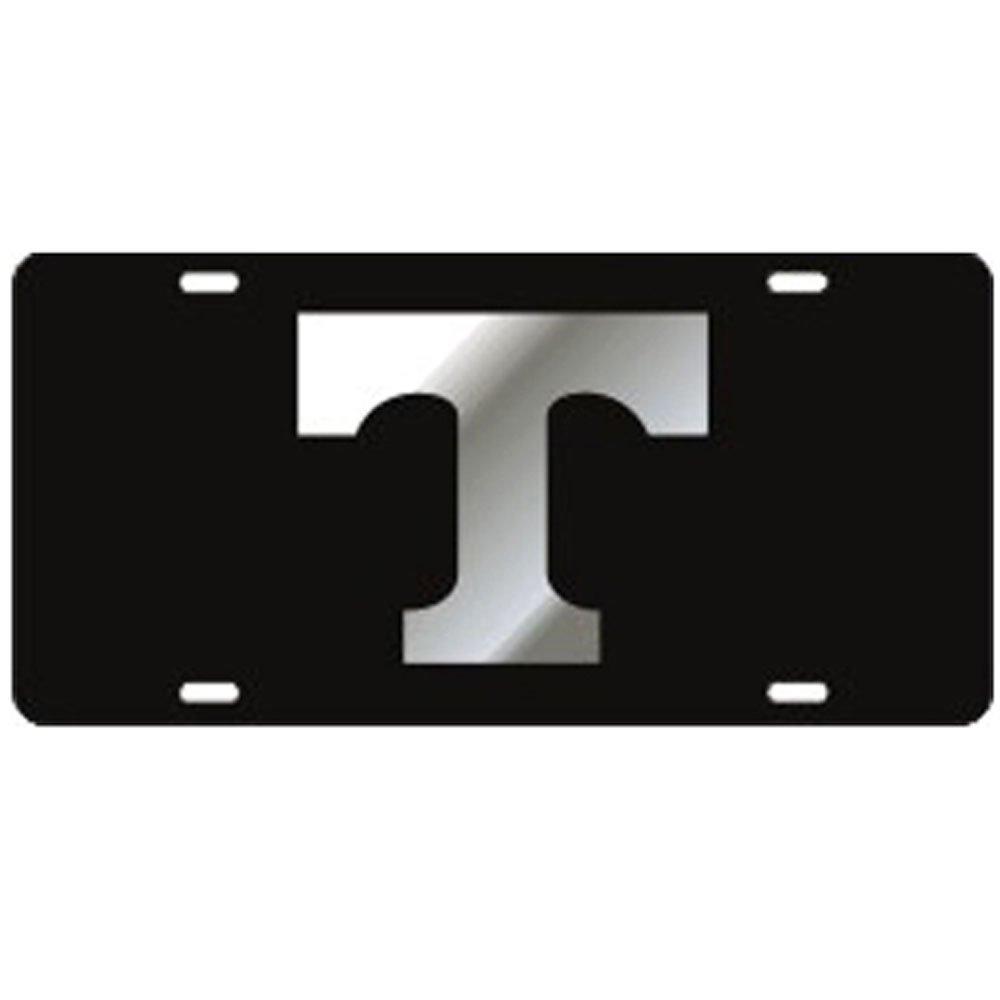 Tennessee Volunteers Black Mirror T Laser Cut License Plate