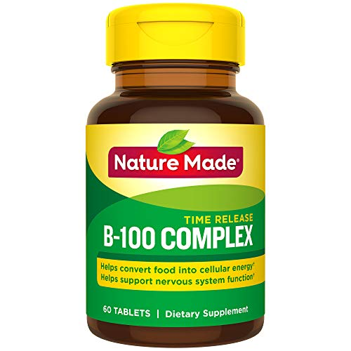 (Nature Made Balanced B-100 Timed Release (Thiamin, Riboflavin, Niacin, B6, B12, Biotin, Pantothenic Acid & Folic Acid) Tablets 60 Ct)