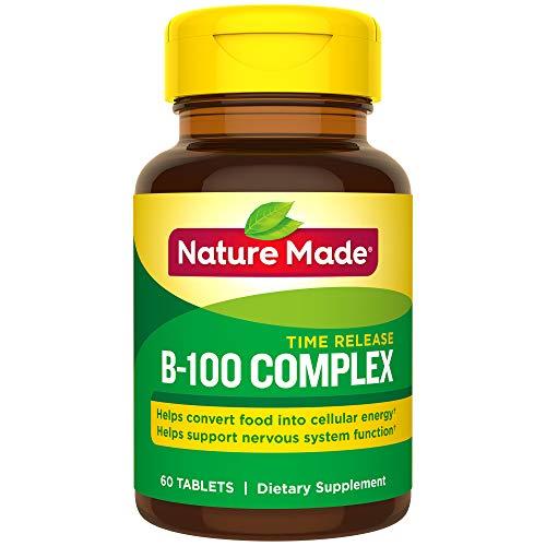 Nature Made Balanced B-100 Timed Release Thiamin, Riboflavin, Niacin, B6, B12, Biotin, Pantothenic Acid Folic Acid Tablets 3 Pack