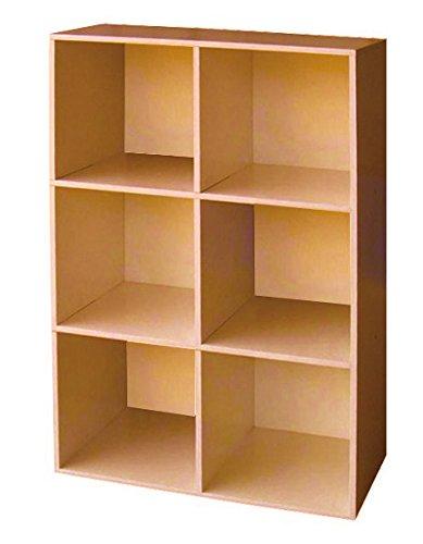 Libreria componibile a 5 vani modulare colore ciliegio 60x202 mc ...