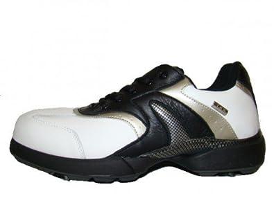 Crivit Golf Golfschuhe Leder im Look, Carbon Look, im Schuhgröße EUR 41, Farbe schwarz weiß Silber 18f6aa