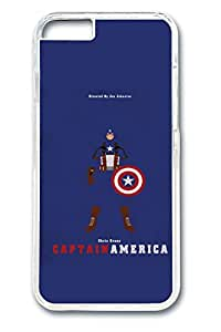 iPhone 6 plus Case, 6 plus Case - Crystal Clear Hard Case Cover for iPhone 6 plus Avengers Catain America Print New Release Clear Case Bumper for iPhone 6 plus 5.5 Inches